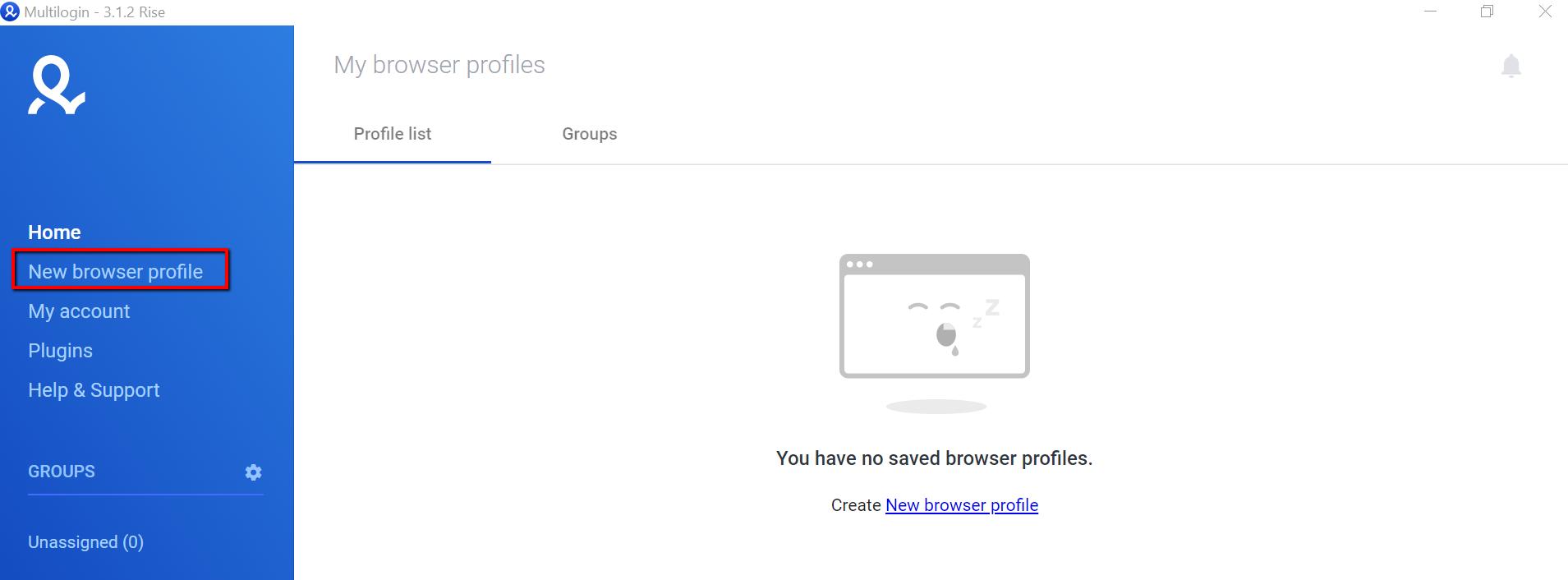 Multilogin app new browser profile