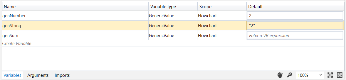 Generic Value Variables
