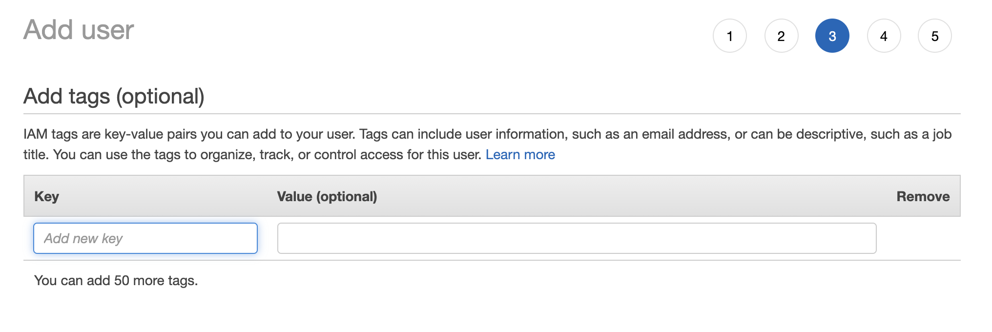 Step 3—Add tags (optional)
