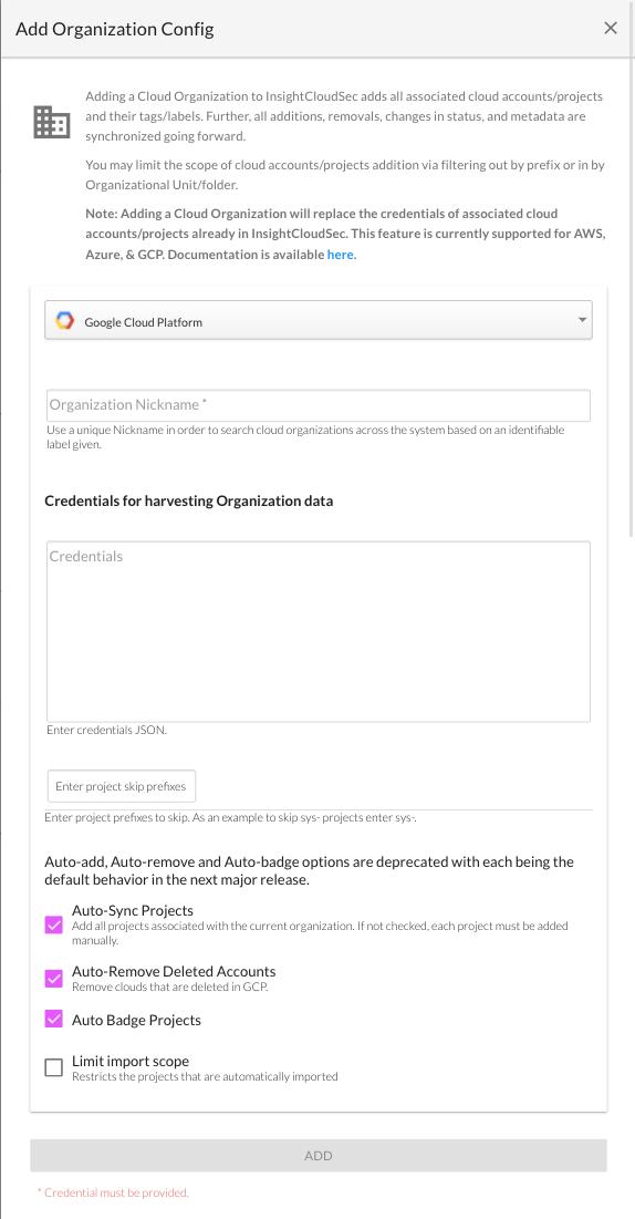 Organizations Form