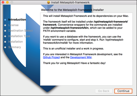 Installing the Metasploit Framework