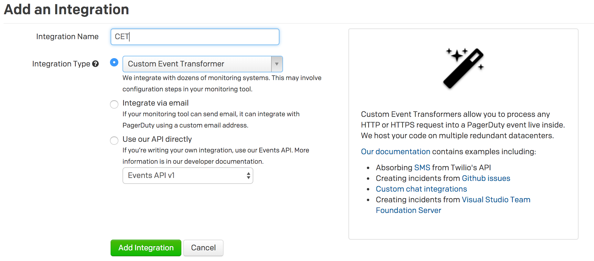 Custom Event Transformer · PagerDuty Developer Documentation