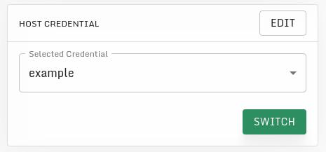 Host credential update.
