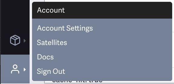 Account -> Account Settings menu