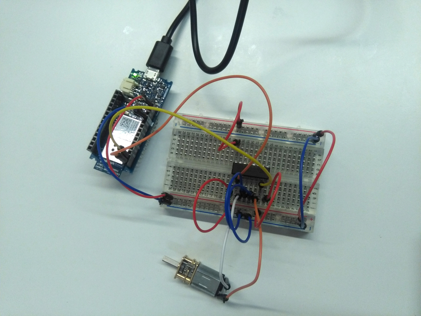 Driving A Dc Motor With An Arduino And The L293d Driver Wia Breadboard Circuit Of Above Is Shown Below Once Thats All Connected It Should Look Little Something Like This