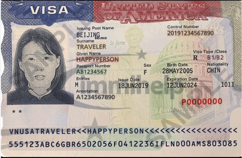 US Visa key data extraction