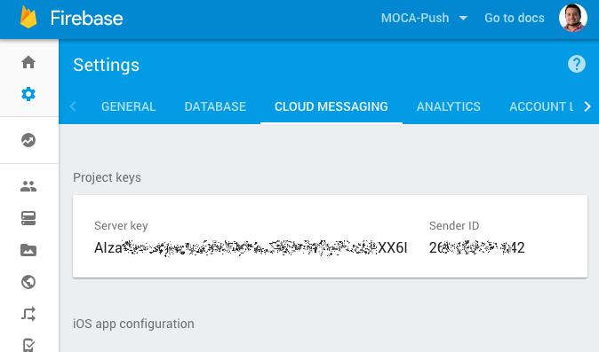GCM / FCM: Cloud Messaging Setup  · MOCA Developer Portal