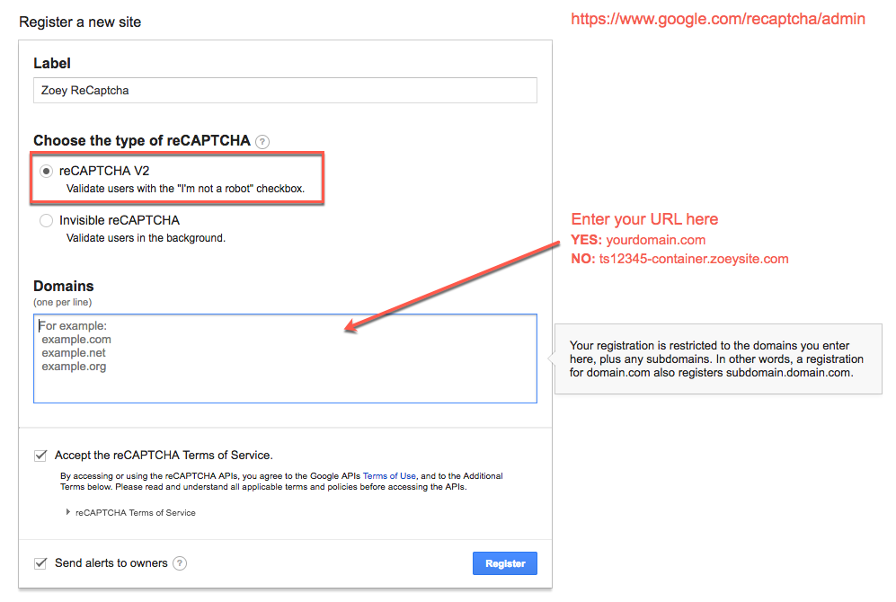reCAPTCHA Registration Form
