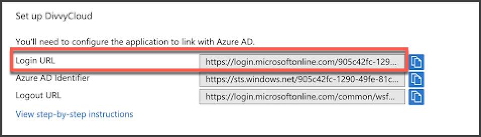 Azure Console - Login URL