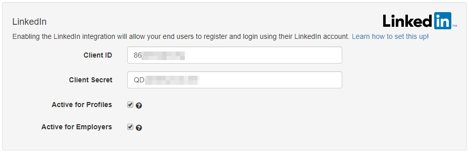 LinkedIn Authentication
