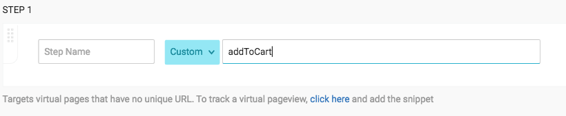 Select **Custom** from the URL Match Type
