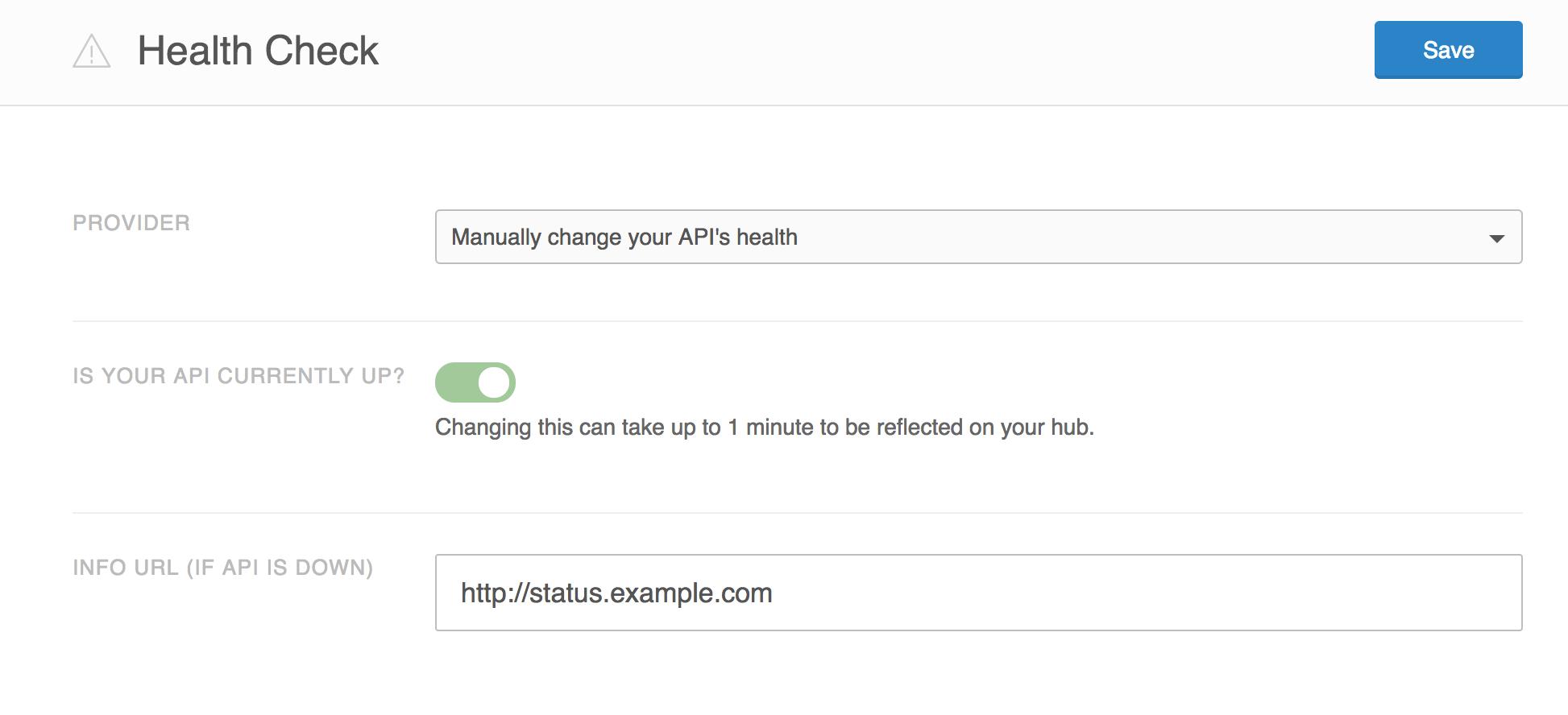 Screenshot showing manual health check provider.