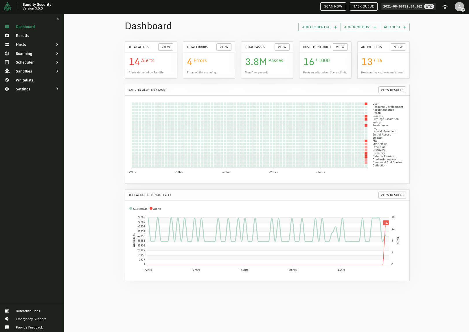Sandfly User Interface