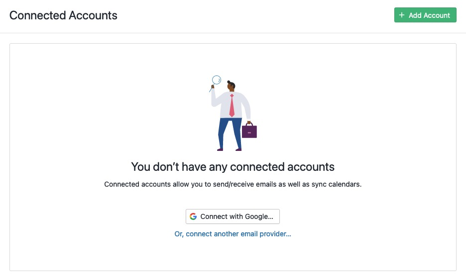 Add new connected account