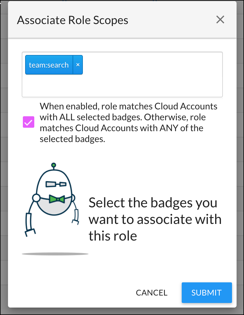 Adding Badges to a User Role