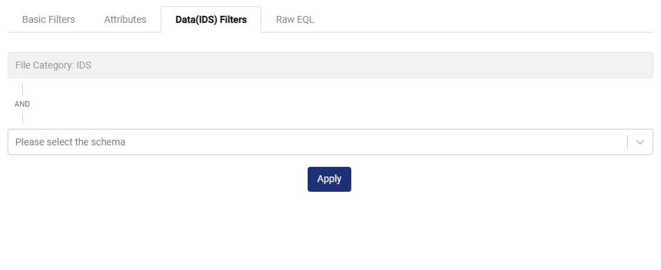 Data (IDS) Filter Tab