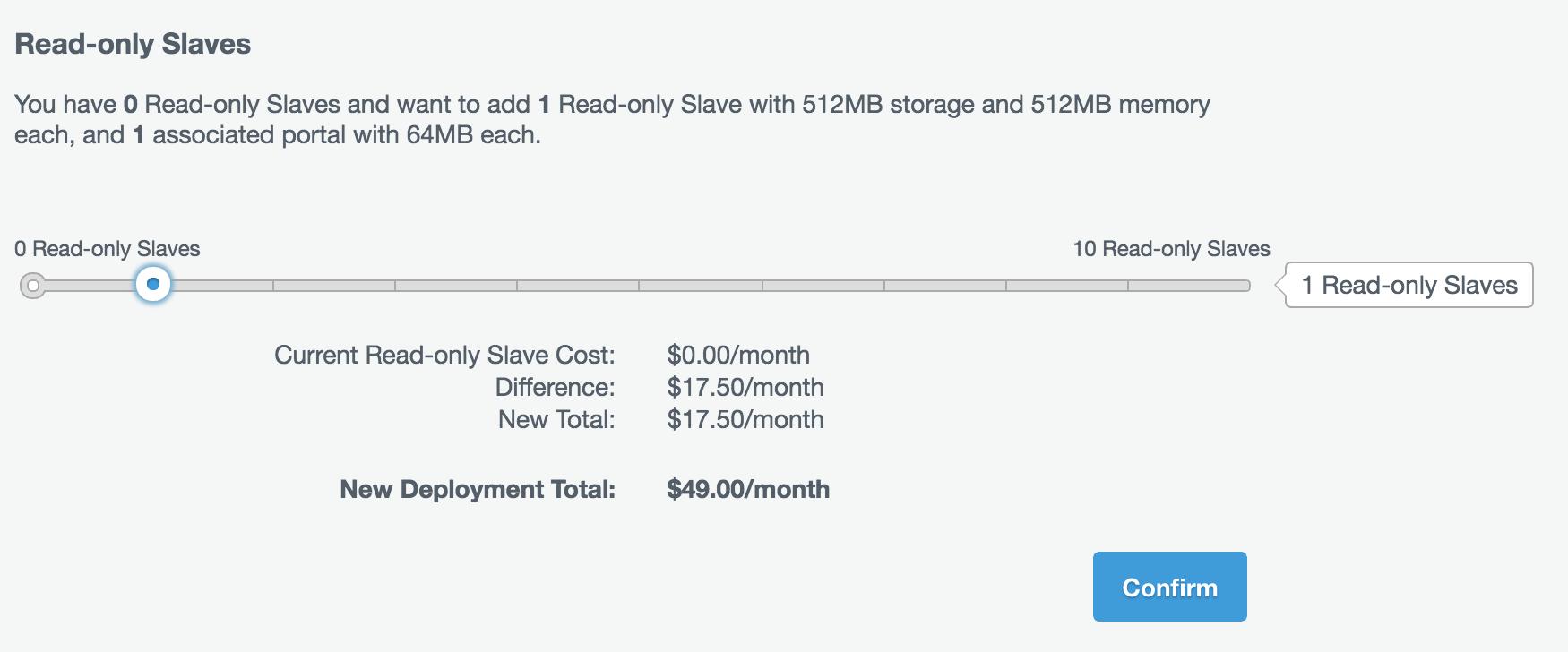 Adding a Read-only slave dialogue.