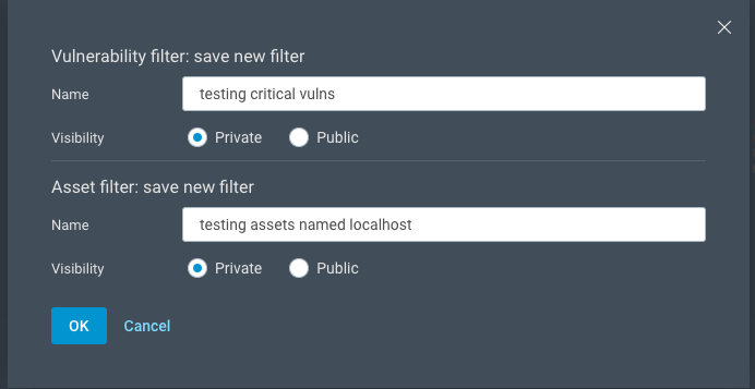 Advanced filter options