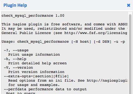 Example plugin help output.