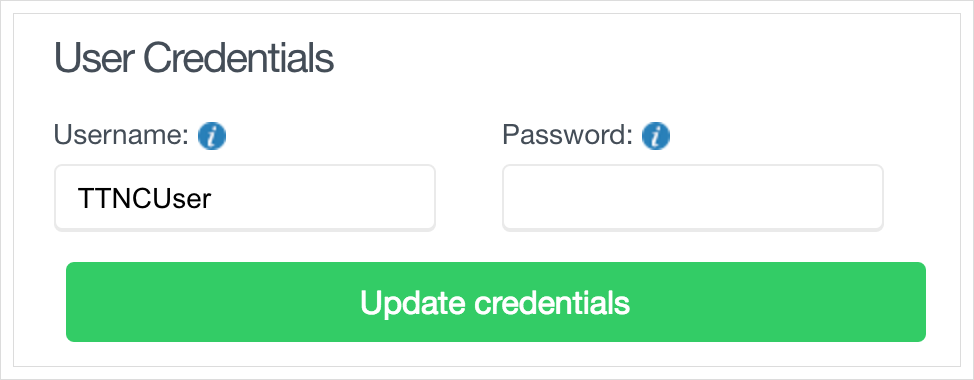 Update VoIP User credentials