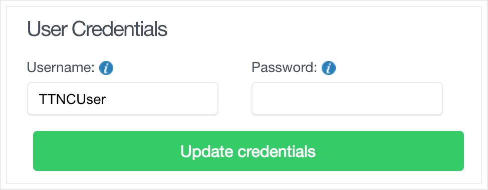 Update VoIP User credentials