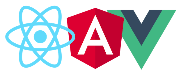 Cool frameworks of the day: React, Angular, Vue.