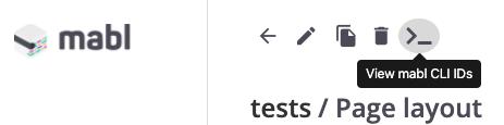 CLI info button