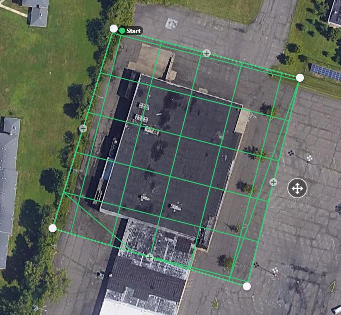 Screenshot showing a rasterized flight in Drone Deploy.