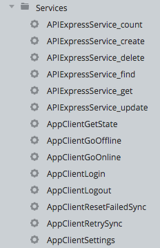 Generated services