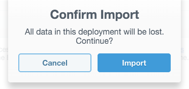 The Confirm Import dialog