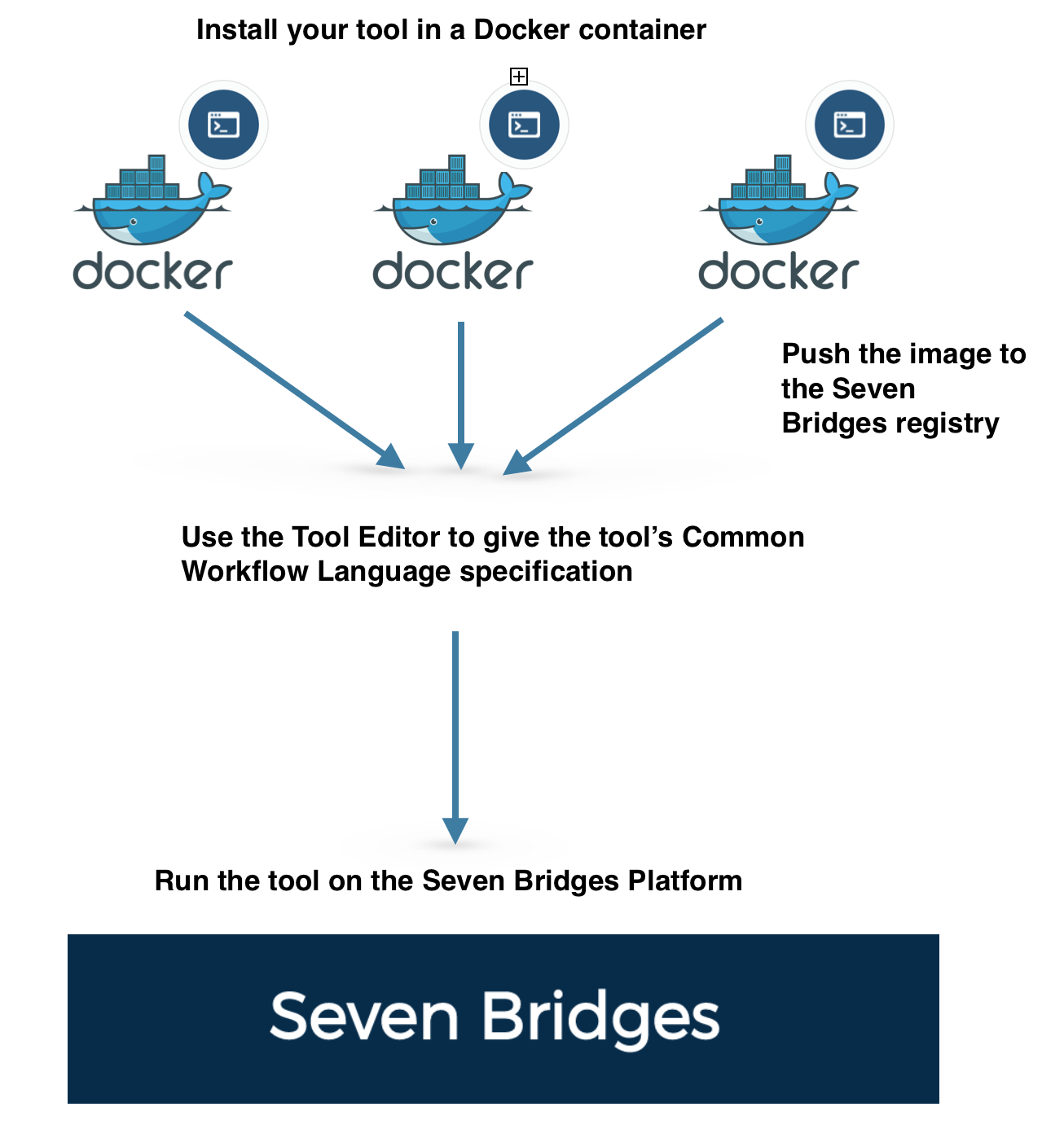 Wrap and run your tools using Docker and the Seven Bridges SDK.