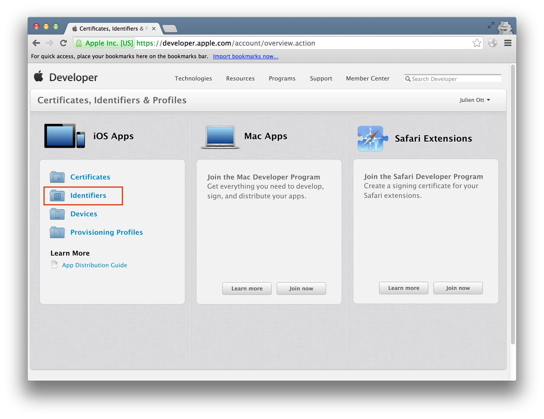 Getting started with apple certificates step 3 create the push notification p12 file xflitez Choice Image