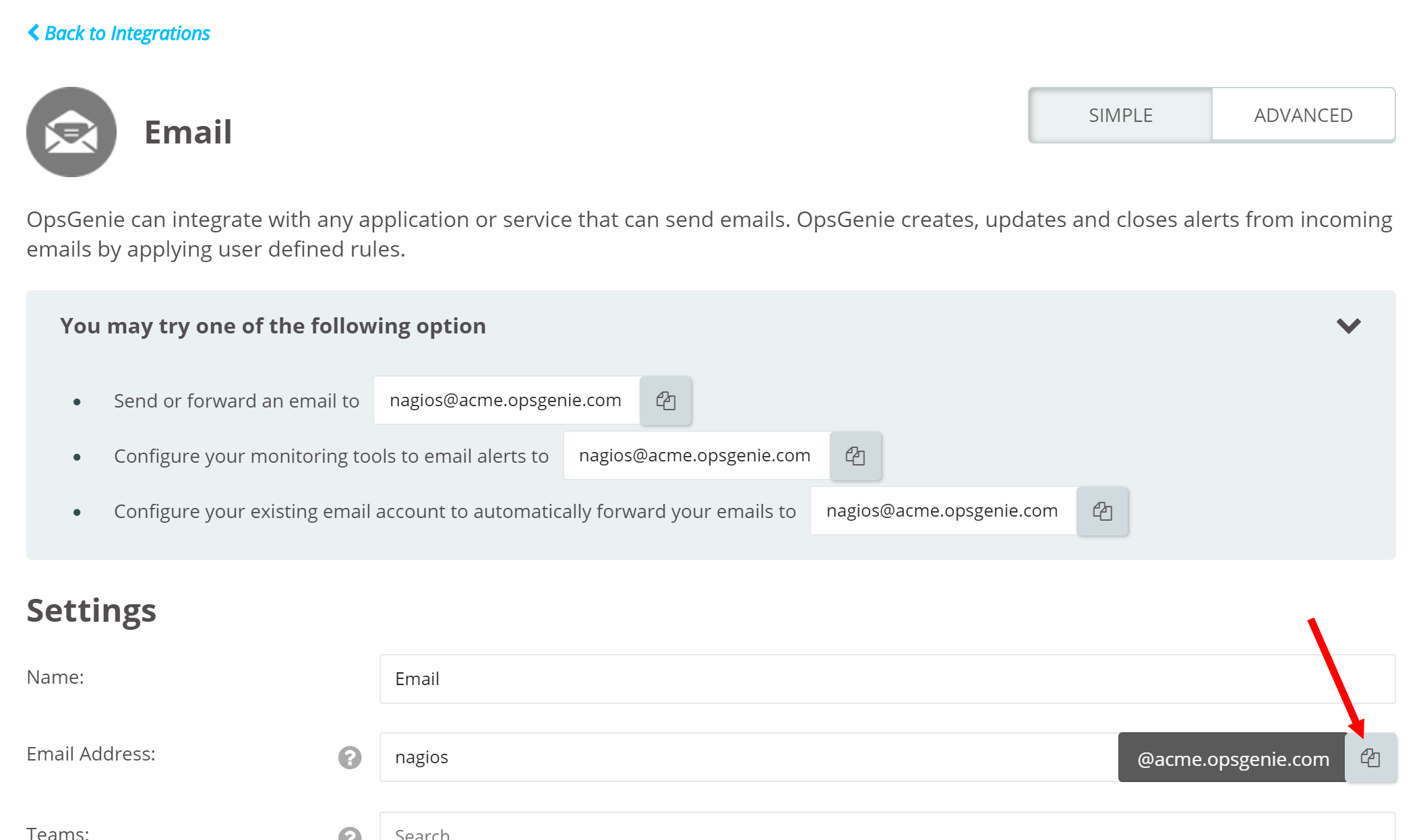 Opsgenie docs for Nagios email notification template