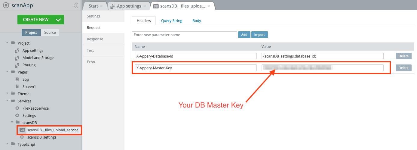 Providing DB Master Key