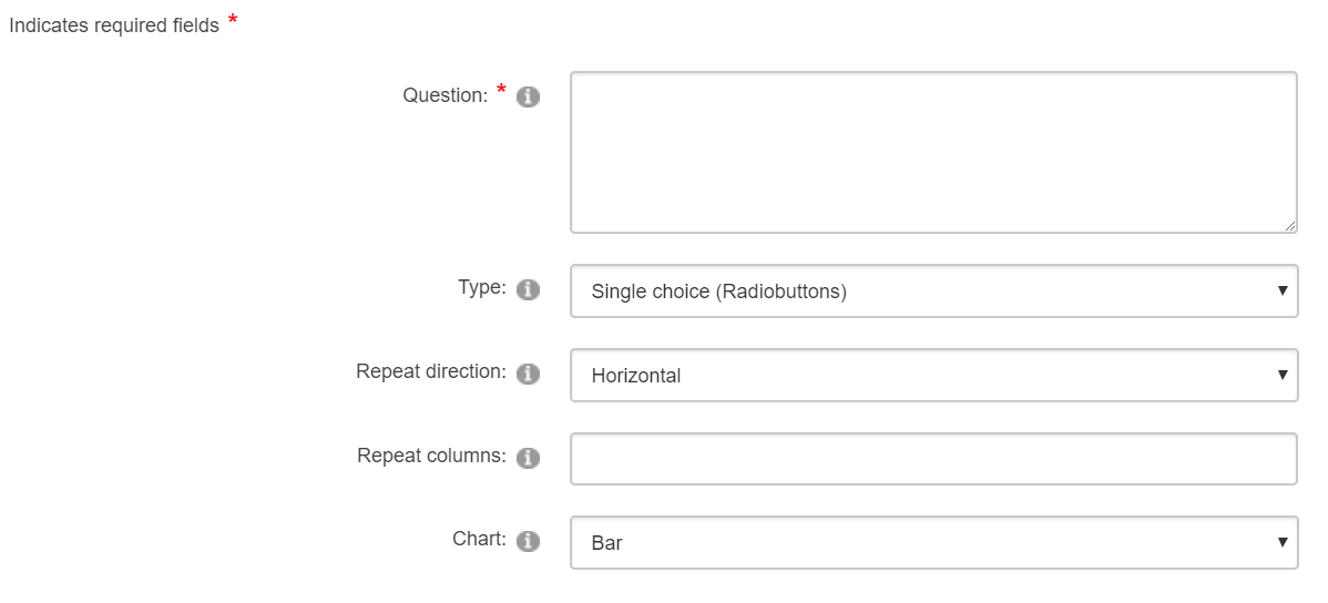 Adding a single or multiple choice question to a survey
