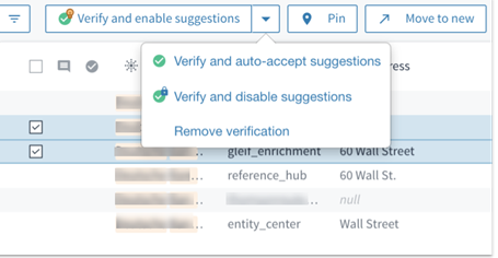 Verification options for records in a cluster