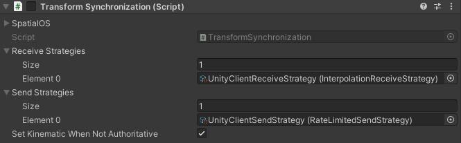 Transform Synchronization script for client prefab