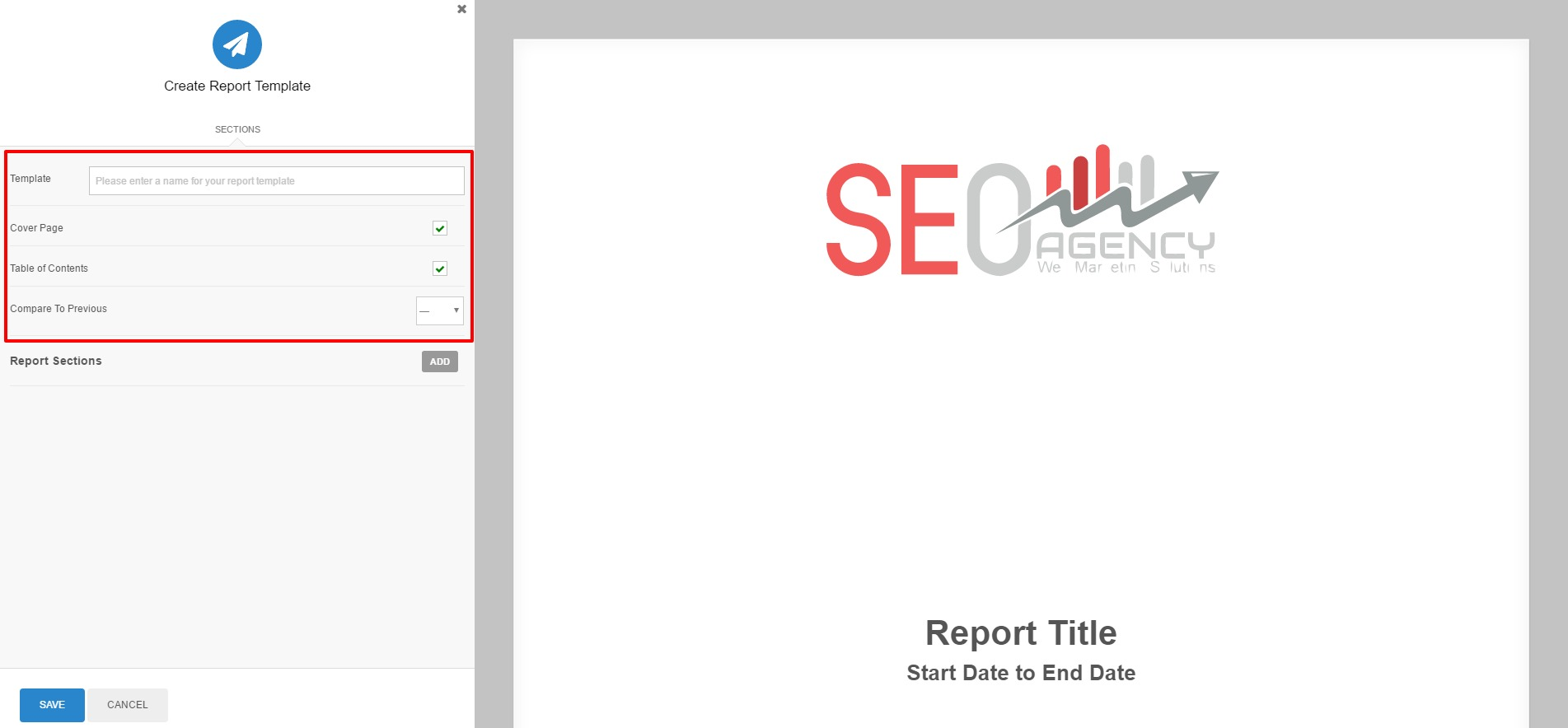 Create report templates