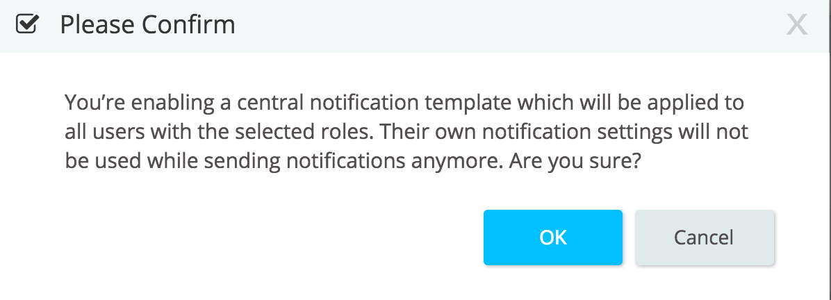 Central Notification Templates