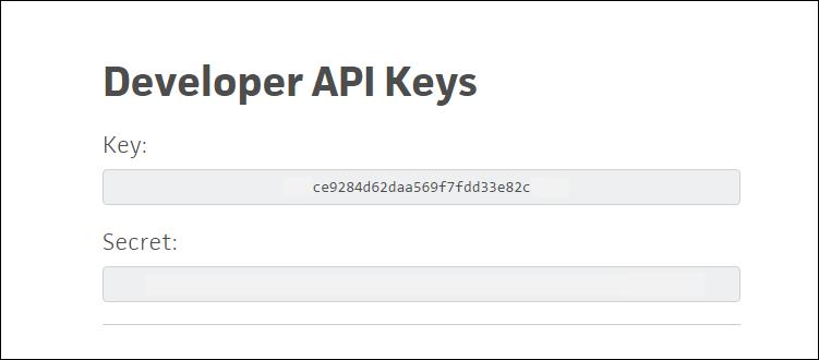 Trello API keys