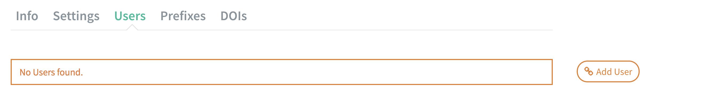 User tab: add user