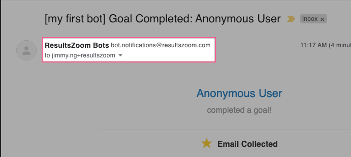 Branded email notifications