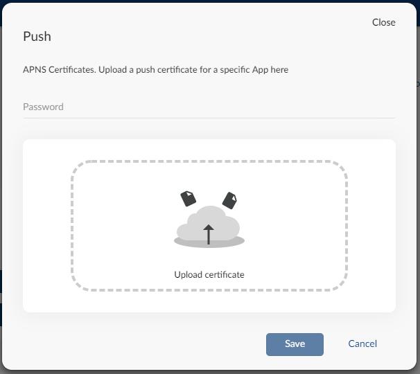 Uploading your APNS certificate