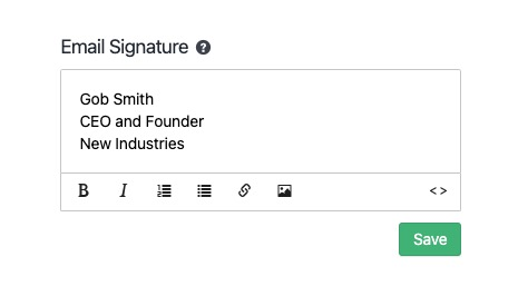 Customizing Your Email Signature