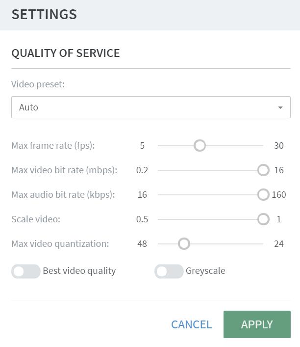 Frame Terminal Quality of Service (QoS) Settings · Frame Documentation