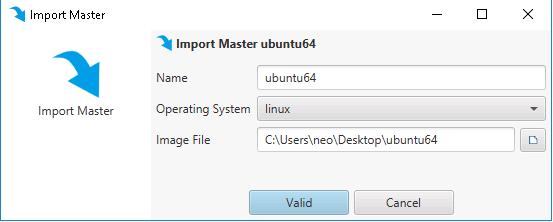 """Ouvrir la console d'administration, puis faire un clic droit sur Masters, et choisir """"Import Master"""""""