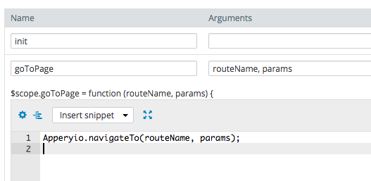Passing navigation parameters in runtime.