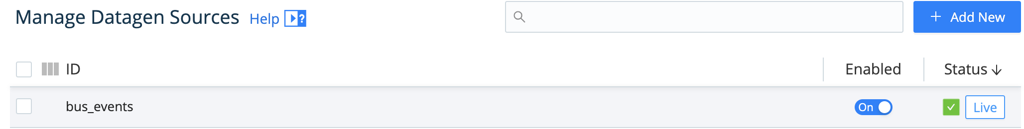 Source > Live button