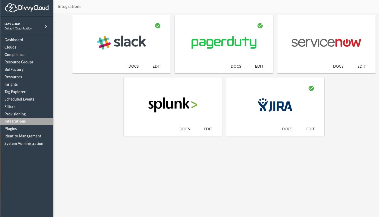 Example DivvyCloud Integrations