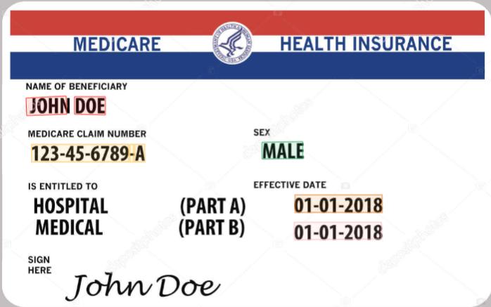 Health insurance key data extraction